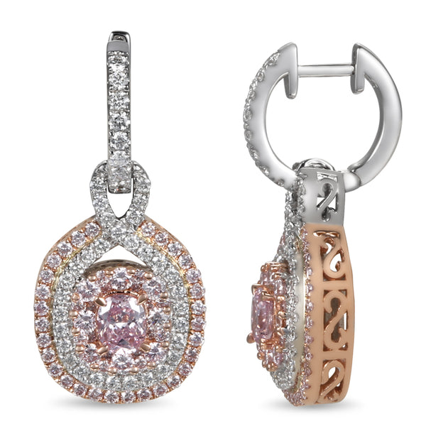 6F604486AQERPD 18KT Pink Diamond Earring $Ask For Price