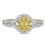 6F604491AULRYD 18KT Yellow Diamond Ring