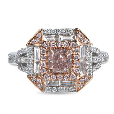 6F604584AQLRPD 18KT Pink Diamond Ring