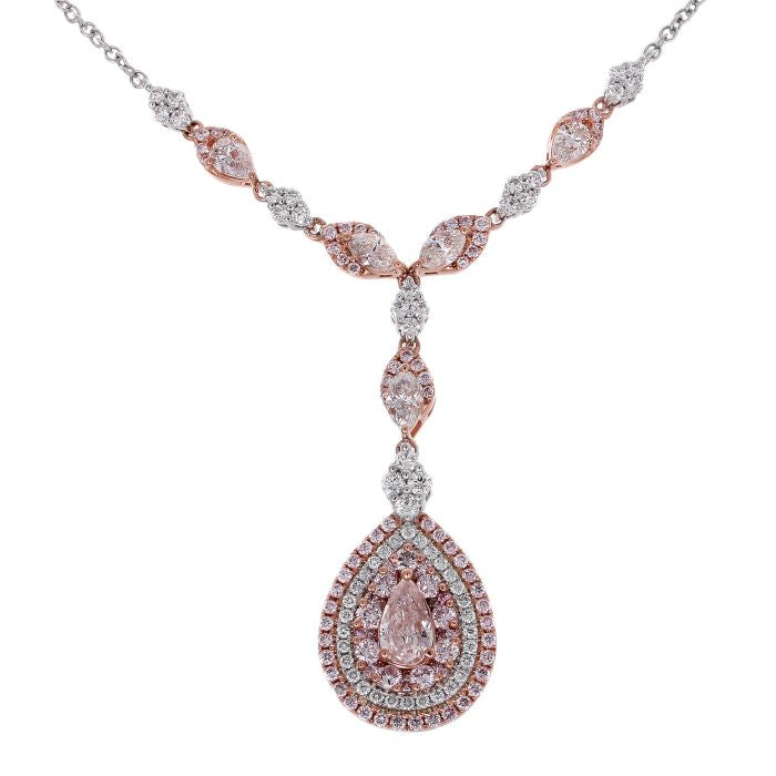 and of colorless diamond pendant round pink picture necklace
