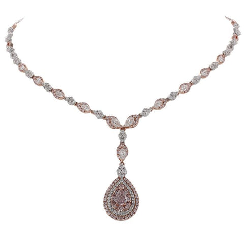 6F604695AQCHPD 18KT Pink Diamond Necklace