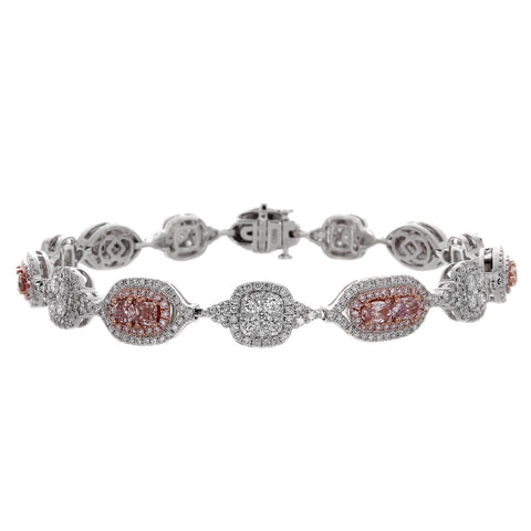 6F604879AQLBPD 18KT Pink Diamond Bracelet  Ask for Price
