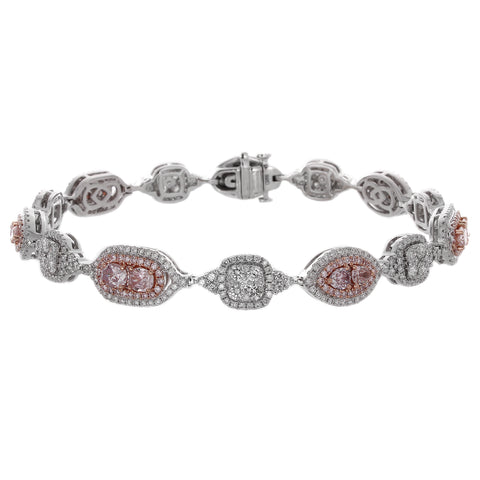 6F604882AQLBPD 18KT Pink Diamond Bracelet  Ask for Price