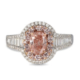 6F605006AQLRPD 18KT Pink Diamond Ring