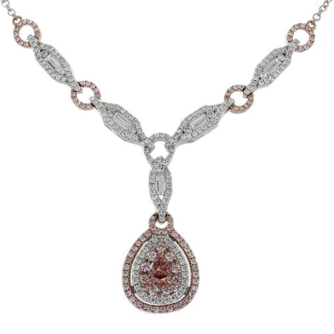 6F605111AQCHPD 18KT Pink Diamond Necklace