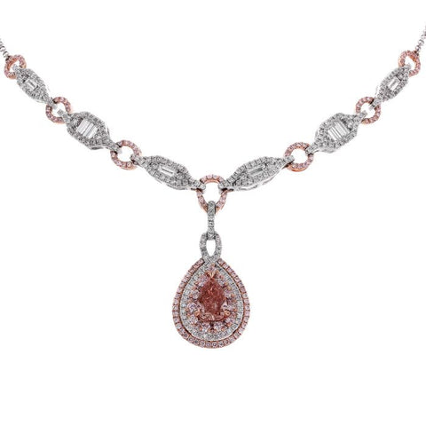 6F605112AQCHPD 18KT Pink Diamond Necklace
