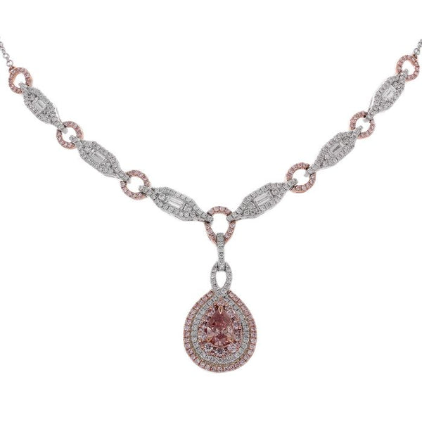 6F605113AQCHPD 18KT Pink Diamond Necklace