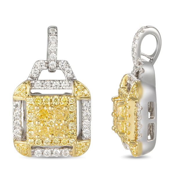 6F605776AUPDYD 18KT Yellow Diamond Pendant