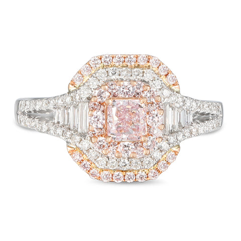 6F606325AQLRPD 18KT Pink Diamond Ring