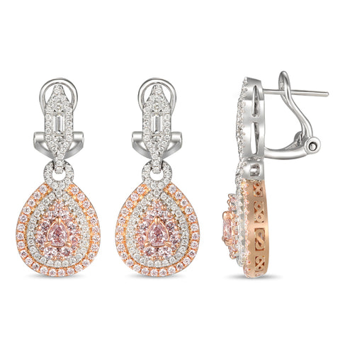 6F606326AQERPD 18KT Pink Diamond Earring