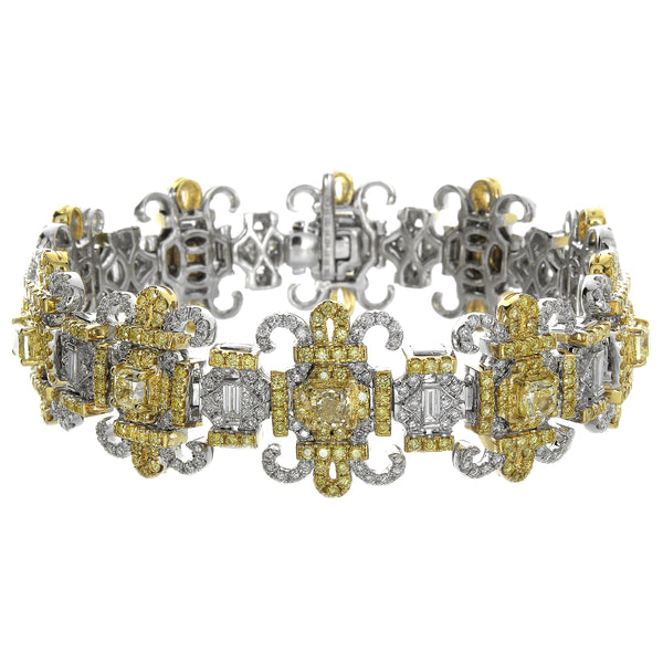 6F606348AULBYD 18KT Yellow Diamond Bracelet