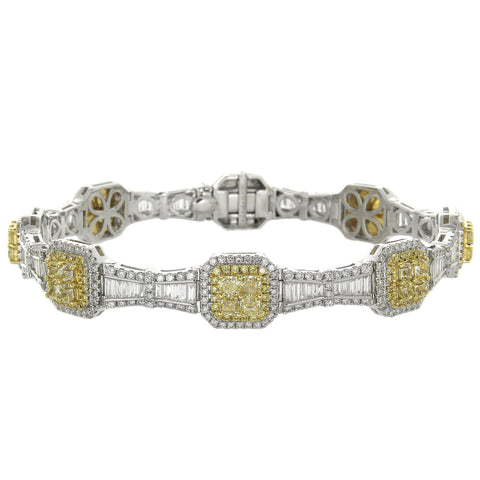 6F606364AULBYD 18KT Yellow Diamond Bracelet