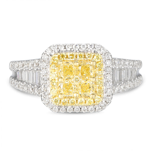 6F606382AULRYD 18KT Yellow Diamond Ring