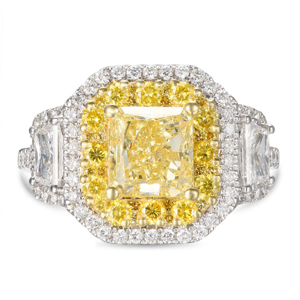 6F606675AULRYD 18KT Yellow Diamond Ring $Ask For Price