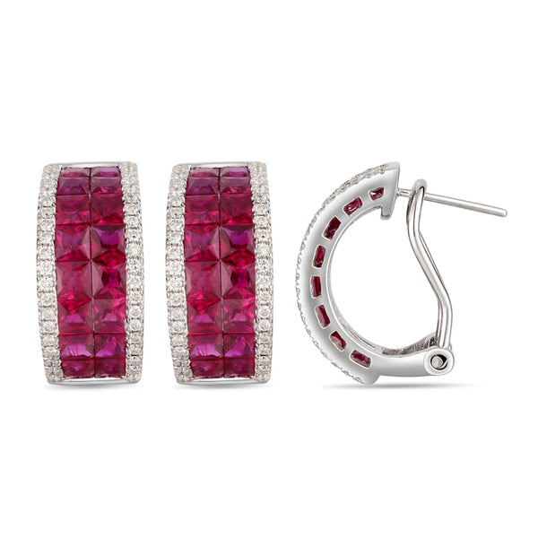 6F606980AWERDR 18KT Ruby Earring