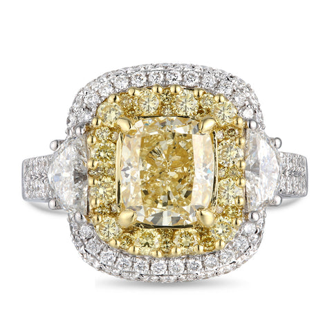 6F607043AULRYD 18KT Yellow Diamond Ring