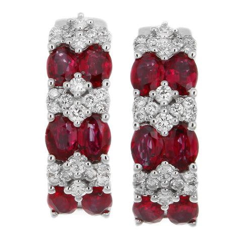 6F608111AWERDR 18KT Ruby Earring