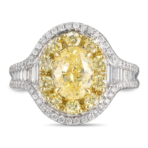 6F608213AULRYD 18KT Yellow Diamond Ring