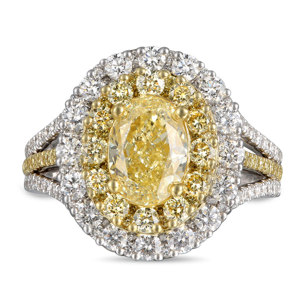 6F608335AULRYD 18KT Yellow Diamond Ring