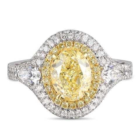 6F608361AULRYD 18KT Yellow Diamond Ring
