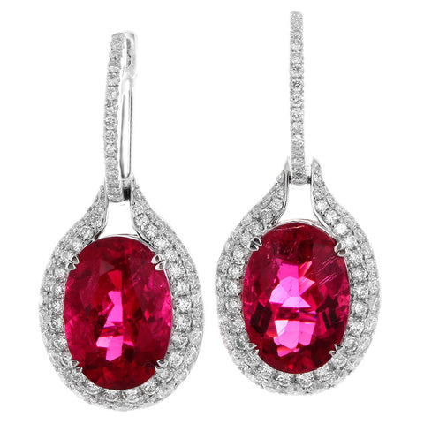 6F608431AWERDR 18KT Rubellite Earring