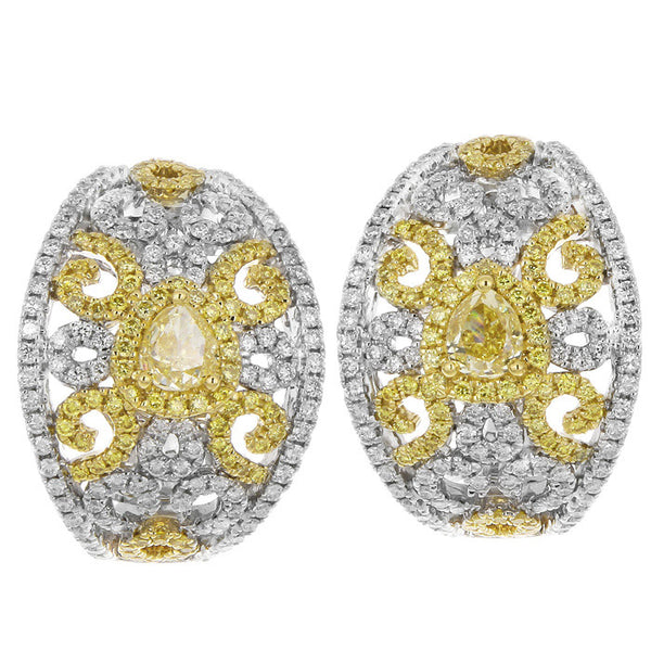 6F608629AUERYD 18KT Yellow Diamond Earring