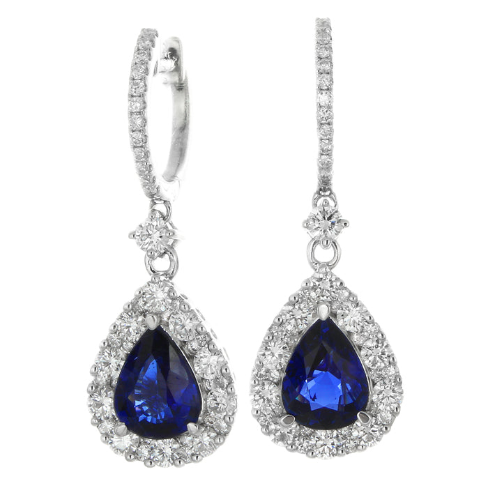 sapphire earring products color blue