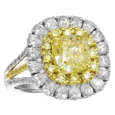 6F608697AULRYD 18KT Yellow Diamond Ring