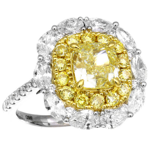 6F608698PULRYD PT Yellow Diamond Ring