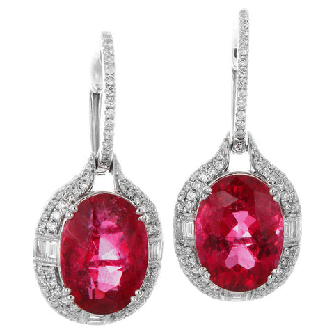 6F608741AWERDR 18KT Rubellite Earring