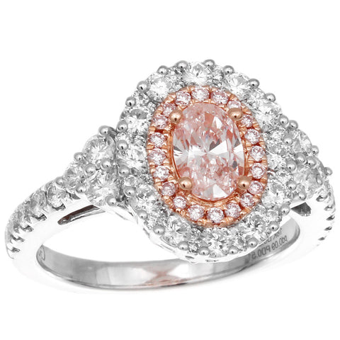 6F608808AULRPD 18KT Pink Diamond  Ring