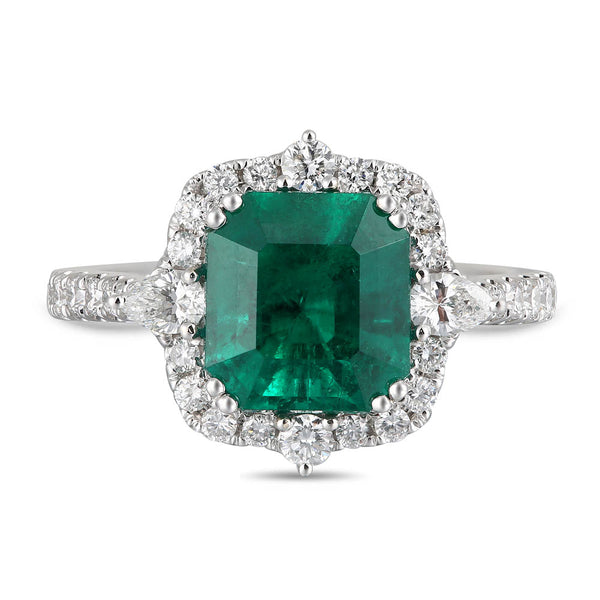 6F610617AWERDE 18KT Emerald Ring