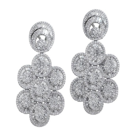 6FL033565AWERD0 18KT White Diamond Earring