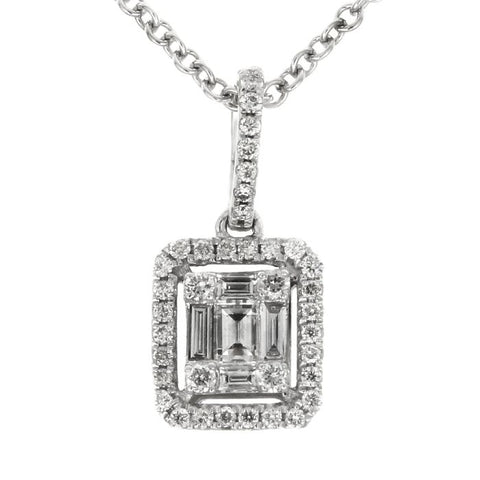 6FL033682AWPDD0 18KT White Diamond Pendant