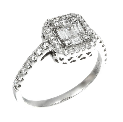 6FL033683AWLRD0 18KT White Diamond Ring
