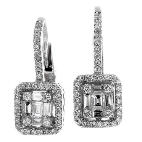 6FL033684AWERD0 18KT White Diamond Earring
