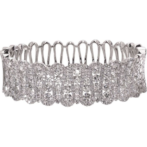6FL176AWBAD0 18KT White Diamond Bangle  Ask for Price