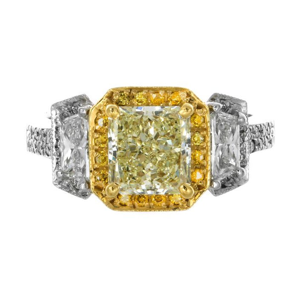9B0024PUU2.07YD001 PT Yellow Diamond Ring