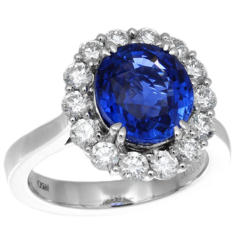 CF0347PWLR4.12DS001 PT Blue Sapphire Ring
