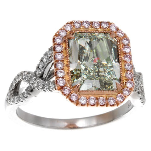 DI05632AQLRGD 18KT Green Diamond Ring