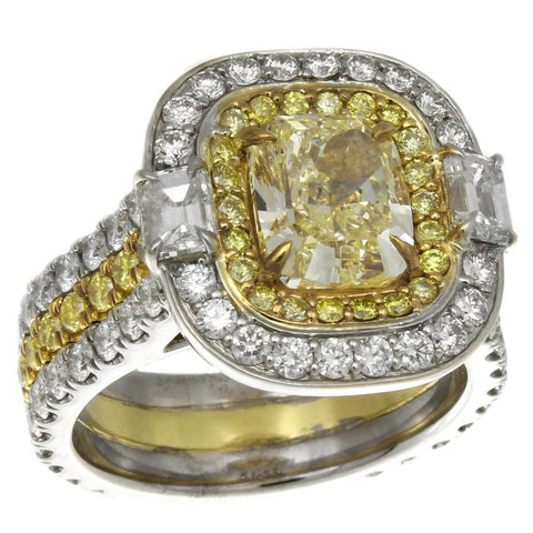 LF010203AULRYD 18KT Yellow Diamond Ring