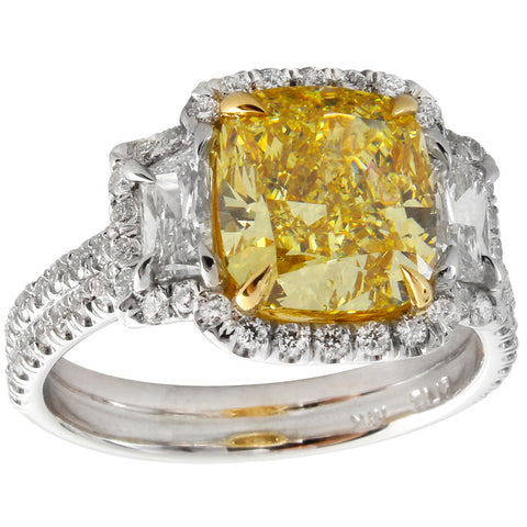 LF01139PULRYD PT Yellow Diamond Ring