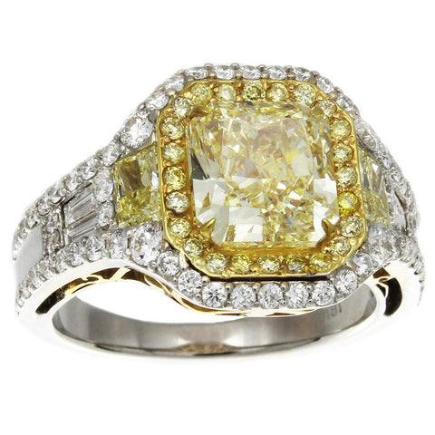 LF01140AWLRYD 18KT Yellow Diamond Ring