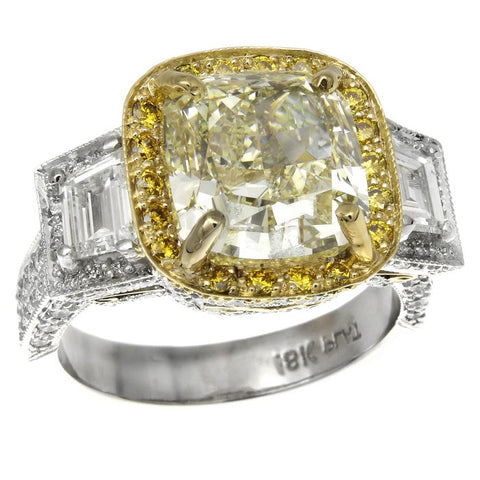 MB0010PUU6.62YD001 PT Yellow Diamond Ring