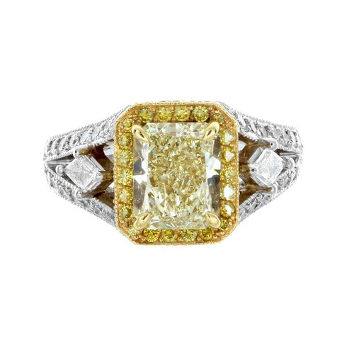 MB0027PUU2.02YD002 PT Yellow Diamond Ring