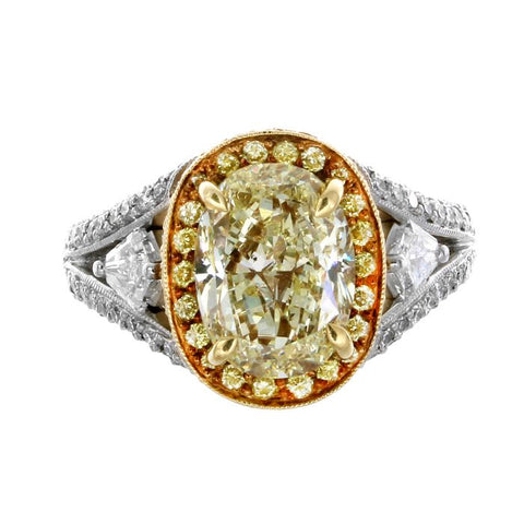 MB0027PUU3.58YD001 PT Yellow Diamond Ring