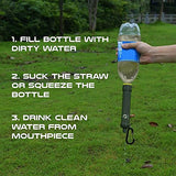Water Filter Straw w/ Compass
