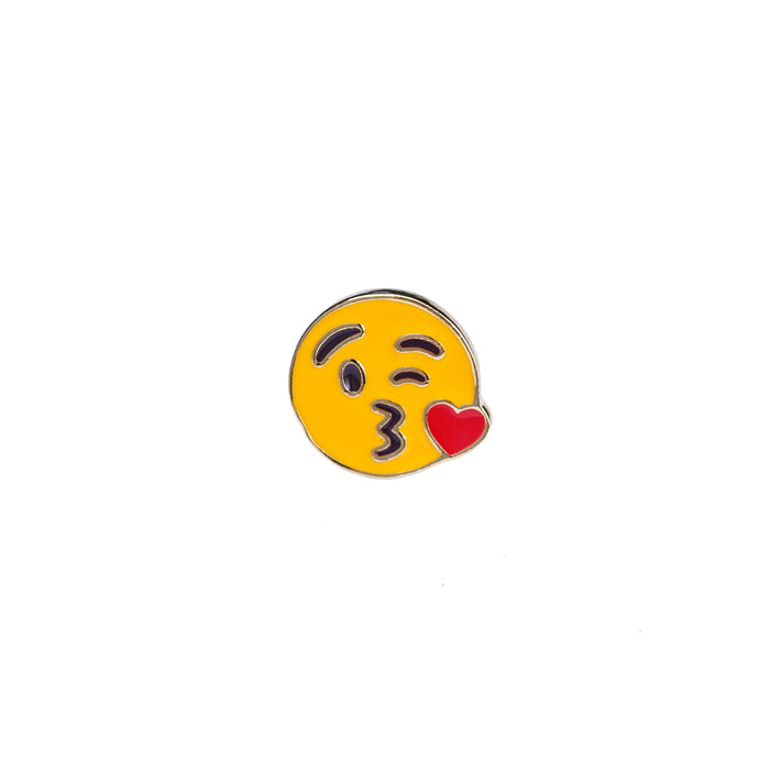 Kiss Emoji Enamel Pin