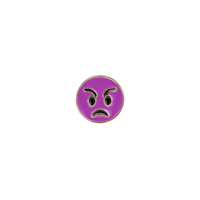 Mad Face Enamel Pin