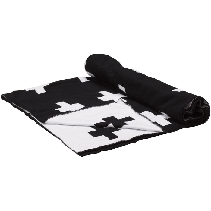 Étoile Black and White Baby Blanket